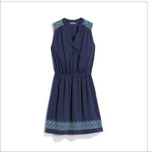 Market & Spruce Mireille blue embroidered dress